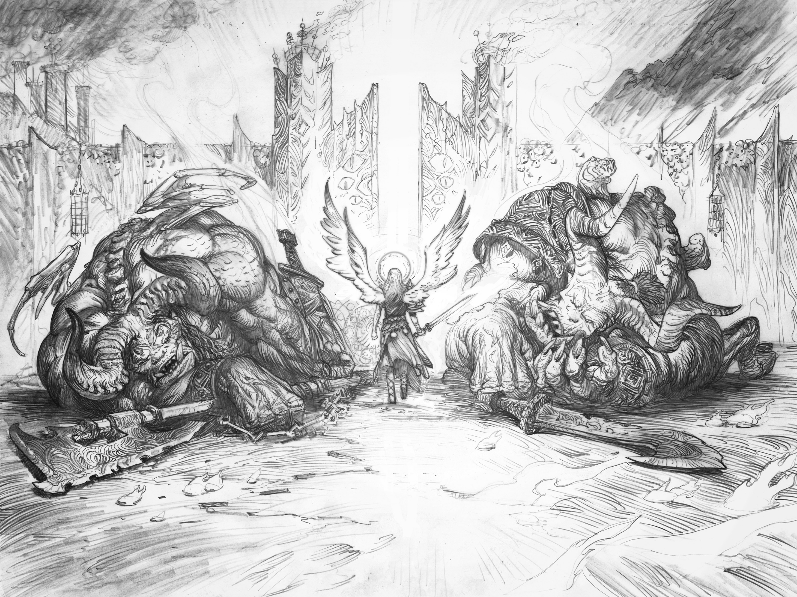 To the Gates of Hell  Drawing Comic Art