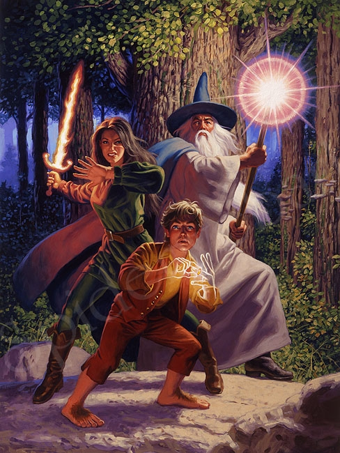 Arwen Joins the Quest - Giclee Comic Art