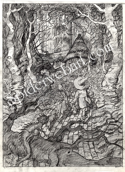 Wizard of Oz: The Tin Woodman's Cottage in the Woods Comic Art