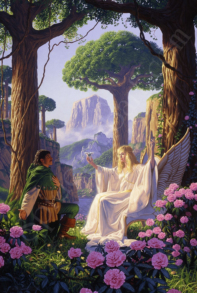 The Gift of Galadriel - Giclee Comic Art