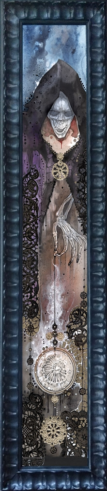Death by Design framed giclee on canvas Comic Art