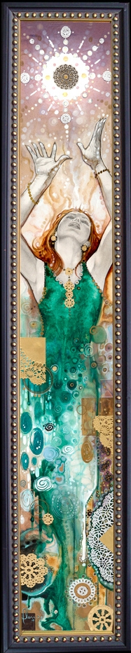 RADIANCE- Beautiful Framed Giclee on canvas Comic Art