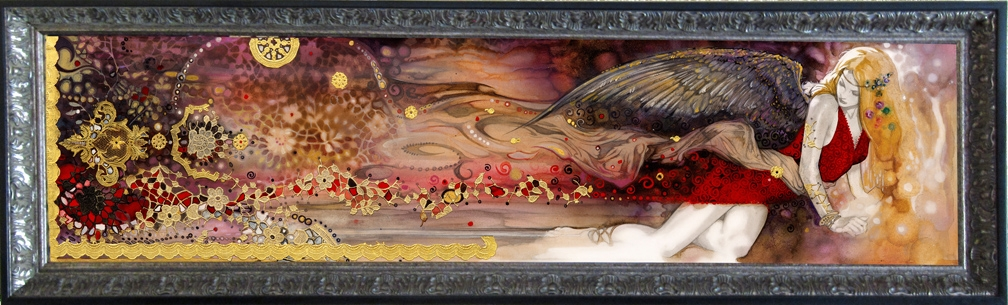 VENUS & the Contemplation of Beauty- Framed Giclee on canvas Comic Art
