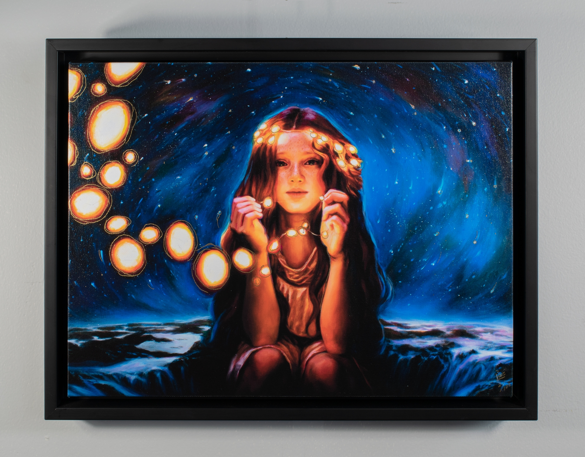 Starlight Limited Edition Hand Embellished Canvas Comic Art