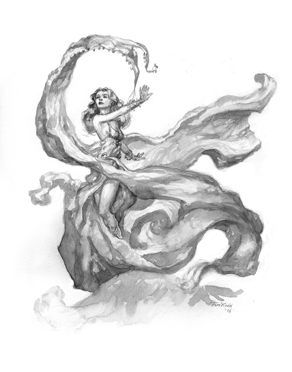 Dancer with Silver Bells Comic Art