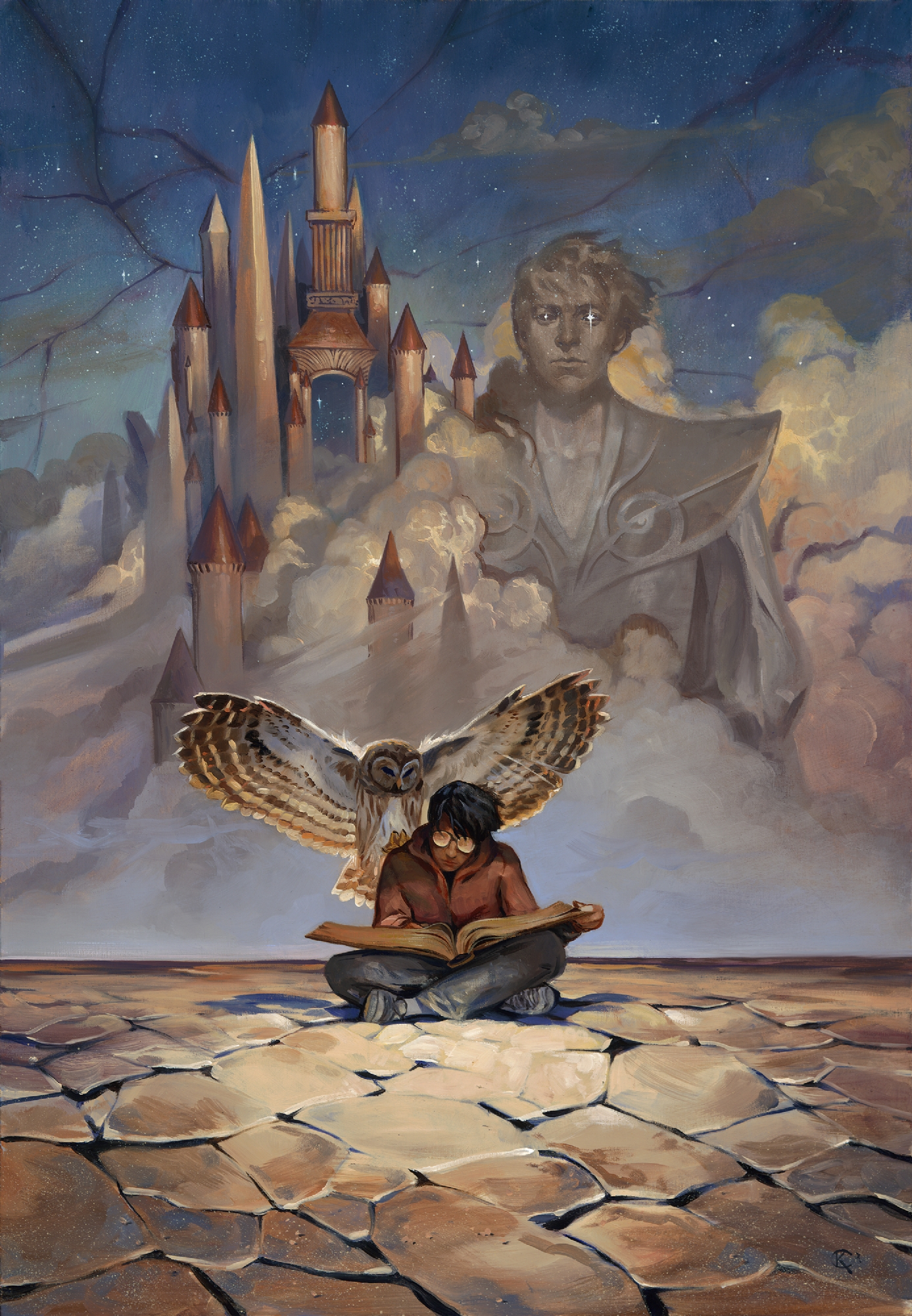 Books of Magic issue #5 cover painting Comic Art
