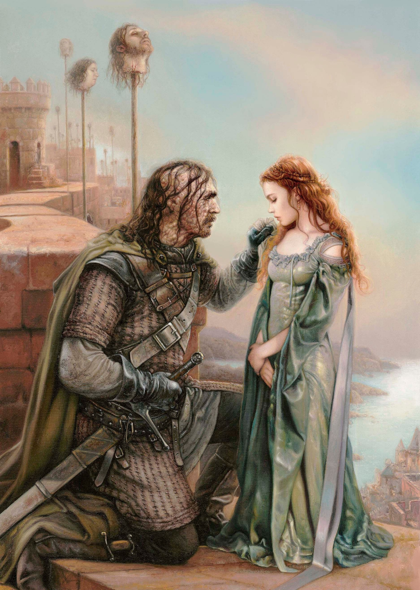 Hound and Sansa Comic Art