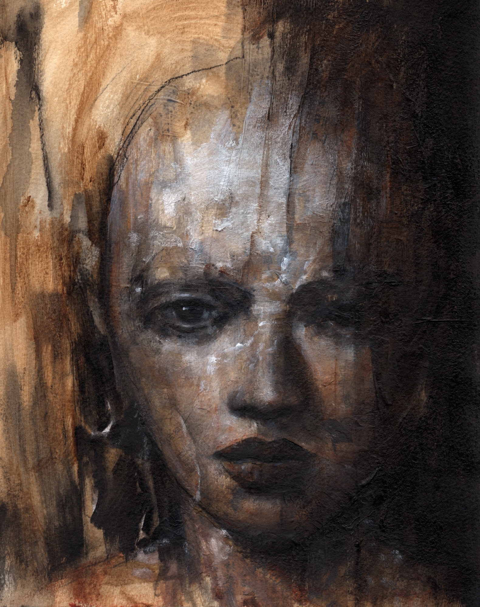 Woman with Silver Earring Comic Art