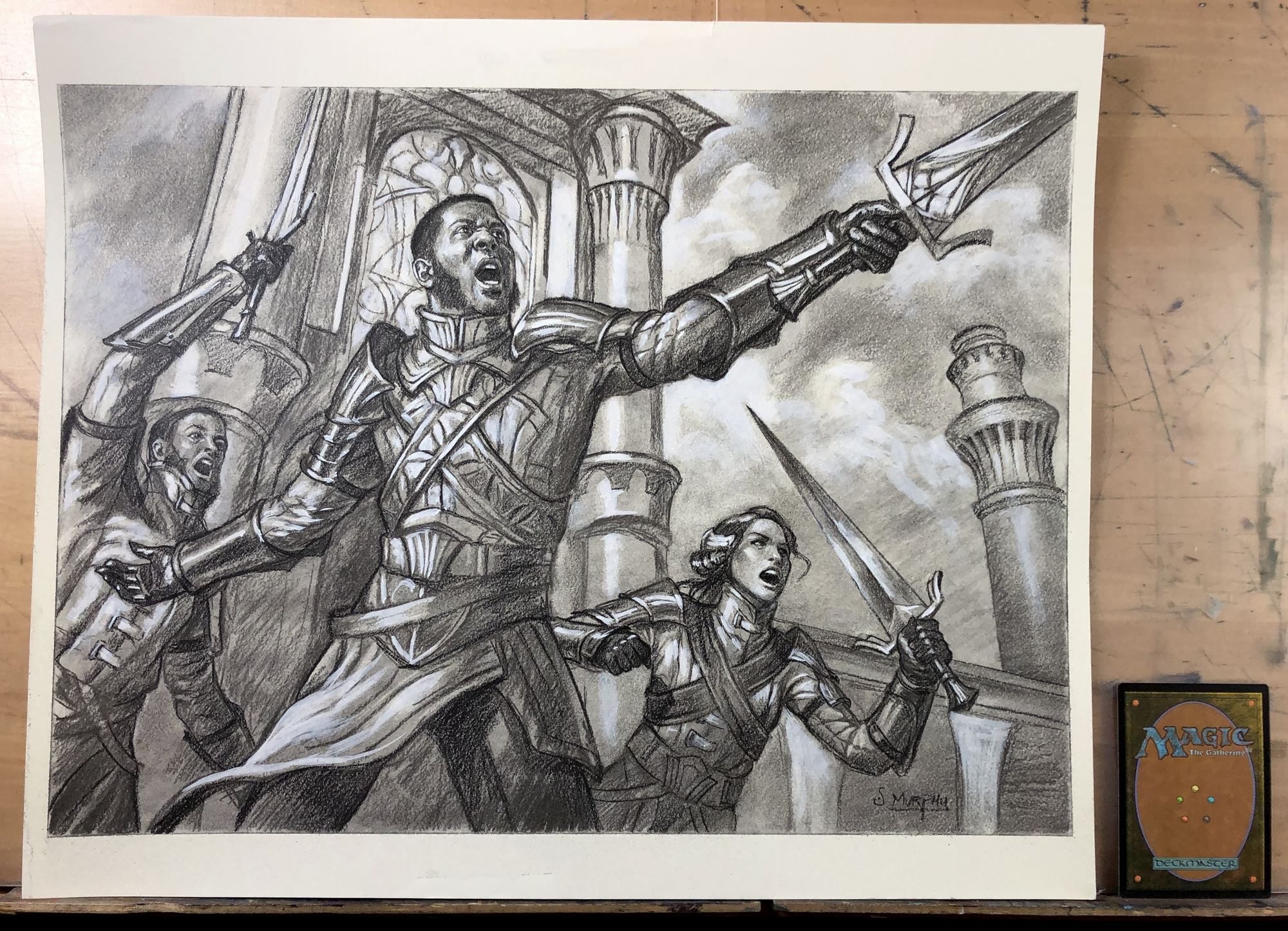 Sergeant-At-Arms Drawing Comic Art