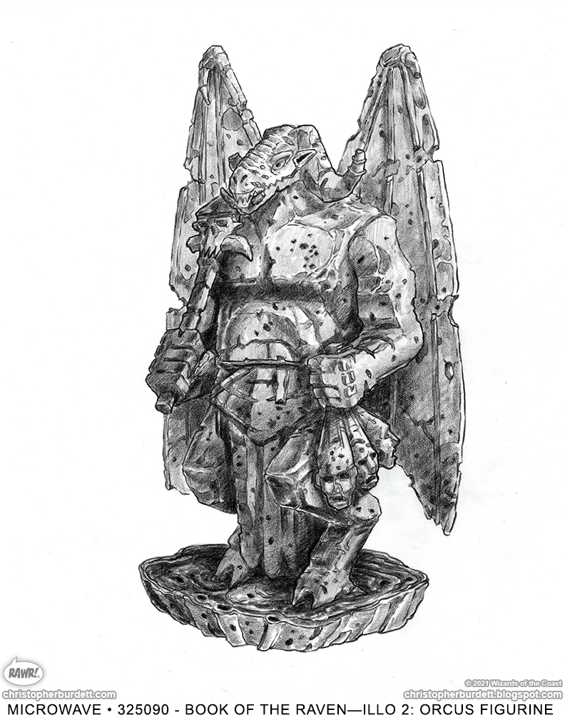 Orcus Figurine - Dungeons and Dragons Comic Art