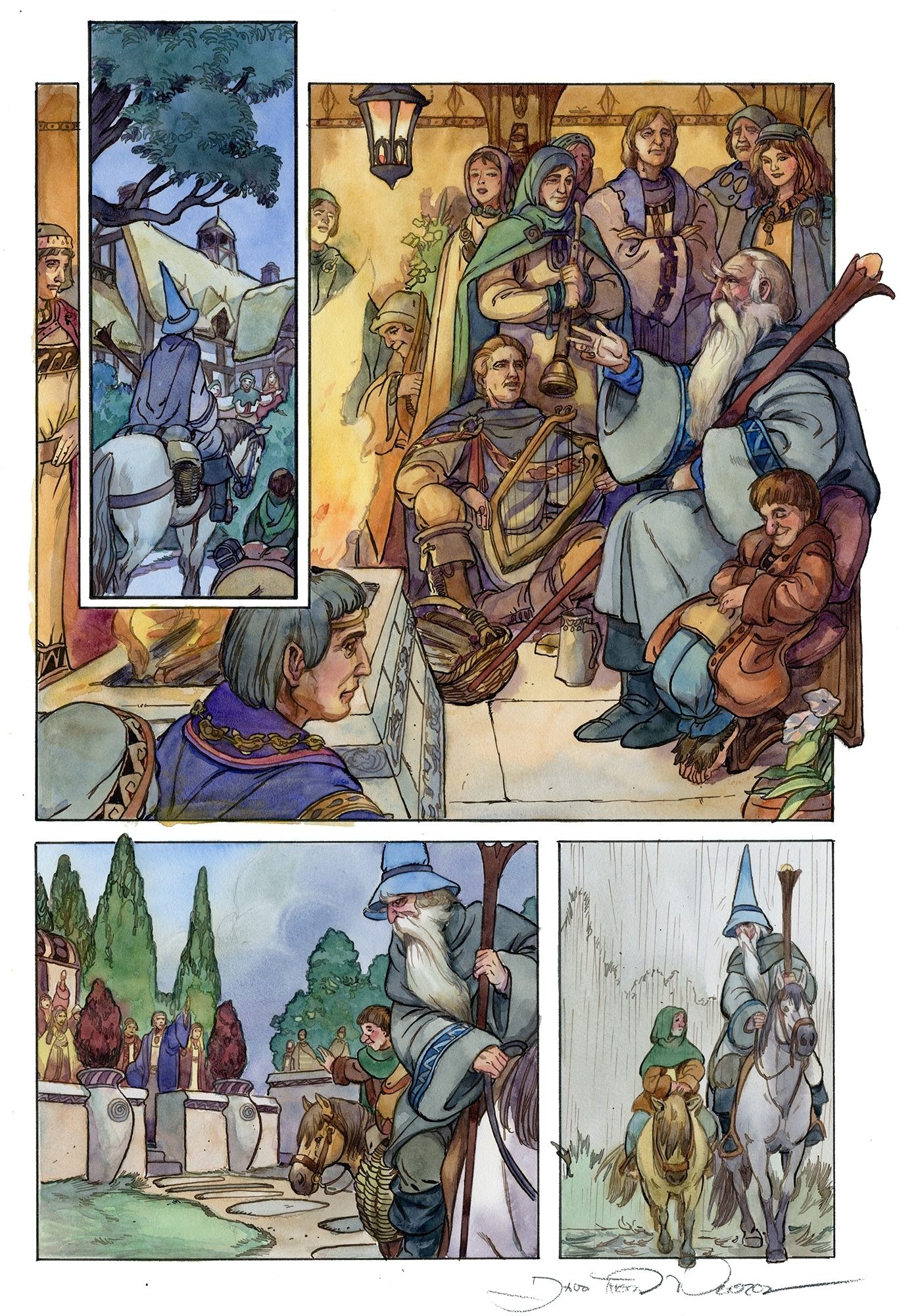 The Warmth of Rivendell Comic Art
