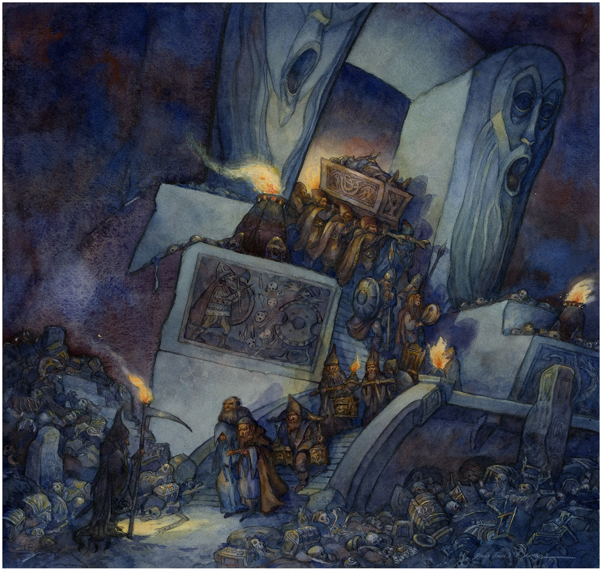 Secrets of the Dwarven Tombs, Kingdom of the Dwarfs Comic Art