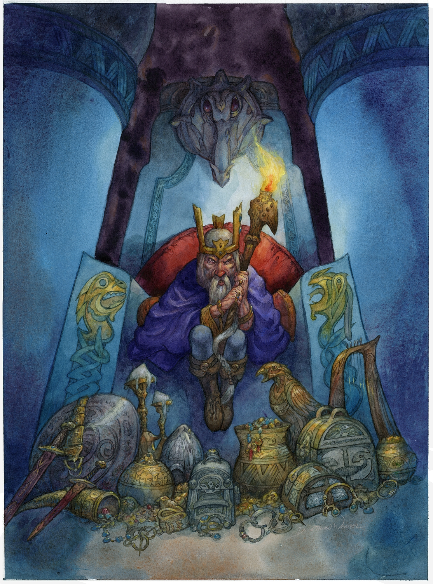 Hoard of the Dwarven King, cover of Kingdom of the Dwarfs Comic Art