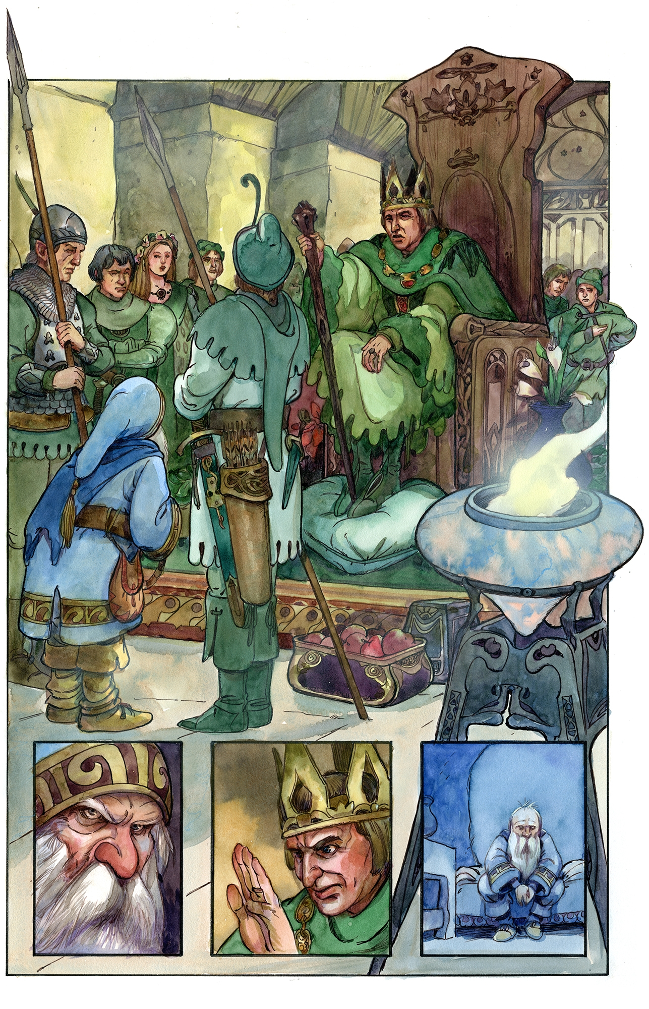 Thorin and The Elven King Comic Art