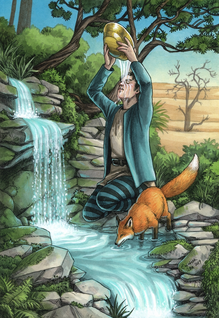 Healing Waters - Everyday Witch Oracle Comic Art