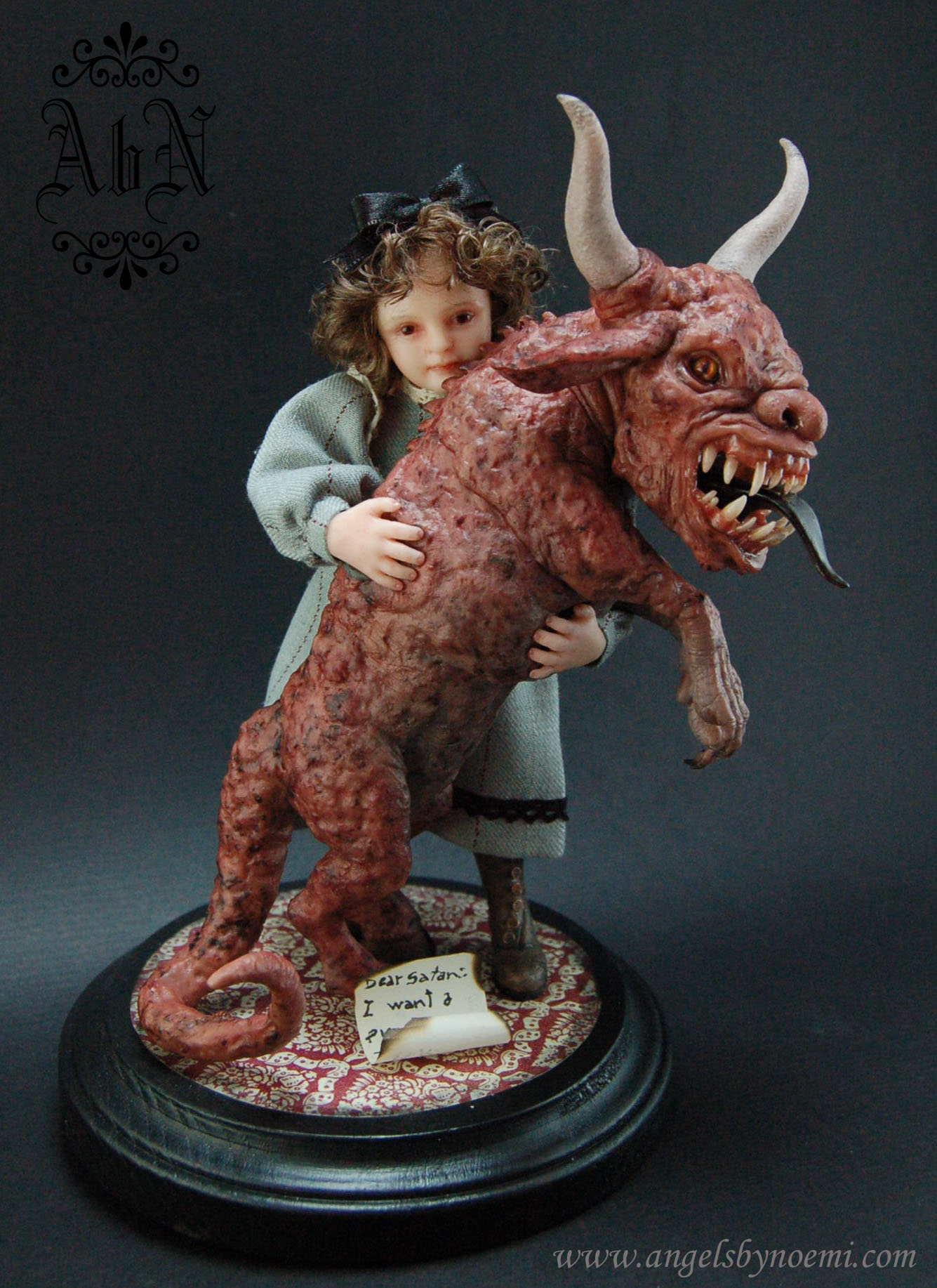 Letter to Satan OOAK Art Doll Comic Art