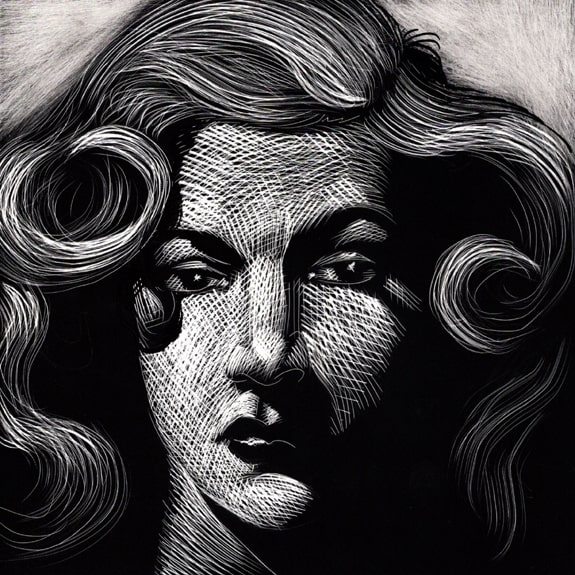 Hired Wife - Original Scratchboard Art Comic Art