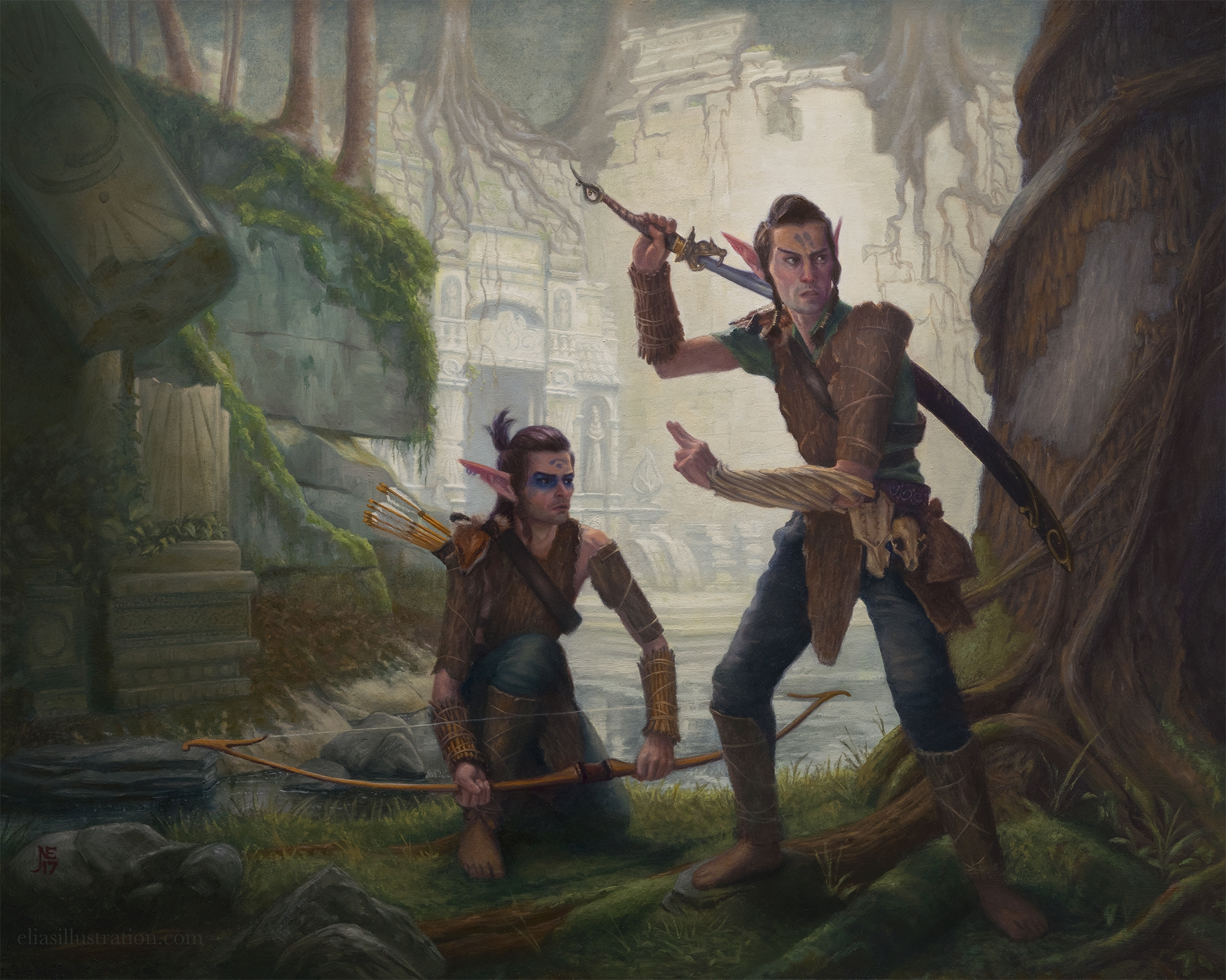 Keepers Of The Sacred Wood Canvas Print Comic Art