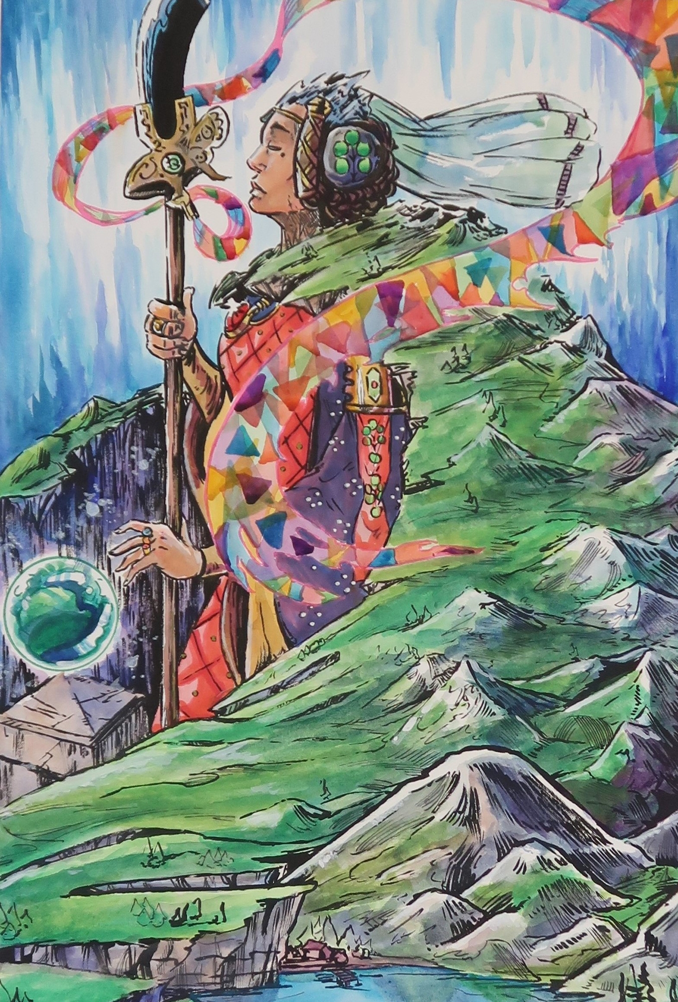 Queen Agnes Gneiss, Last of the Waking Mountains [Original Painting] Comic Art